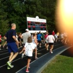 #8, C.C, running with my friend, Kevin Darmody, at the Team Nick 5K on Saturday!