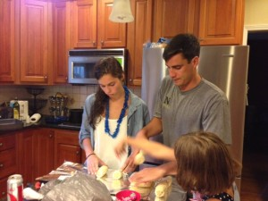 #1 and #2 in the kitchen on the 4th of July...Good times usually involve good food, too!