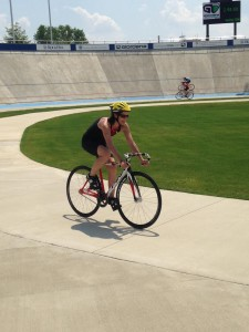 Me at the Rock Hill Velodrome