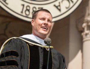 Phillip Rivers, San Diego Chargers quarterback, at a May 2014 graduation speech